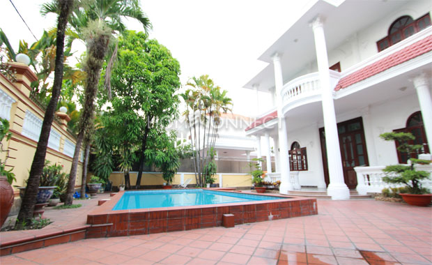 Villa for Lease in Thao Dien French Colonial-Inspired