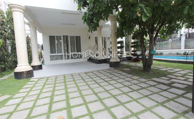 HCMC Magnificent Villa in Compound for Lease